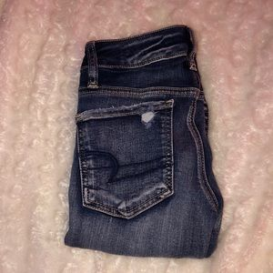 american eagle low rise crop jeans